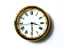 Zeit, drei dreißig stockbild