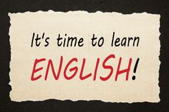 Zeit, Englisch zu lernen lizenzfreie stockfotos