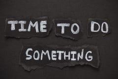 Zeit, etwas zu tun Stockbild