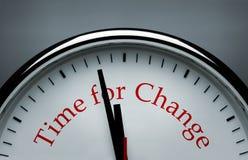 Zeit für Änderung lizenzfreie stockfotografie