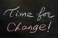 Zeit für Änderung Stockbild
