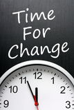 Zeit für Änderung Lizenzfreie Stockfotos