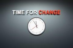 Zeit für Änderung an der Wand vektor abbildung