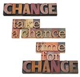 Zeit für Änderung - nehmen Sie eine Wahrscheinlichkeit Lizenzfreie Stockbilder