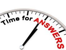 Zeit für Antworten Lizenzfreie Stockbilder