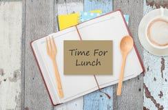 Zeit für das Mittagessen Stockfotos