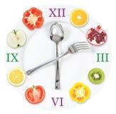 Zeit für Diät stockbild