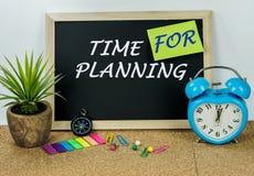 Zeit für die Planung Lizenzfreie Stockfotografie