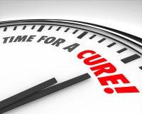 Zeit für eine Heilungs-Uhr verhindern Krankheits-Krankheits-Krankheit medizinisches R Lizenzfreie Stockfotografie