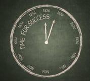 Zeit für Erfolg auf Tafel Lizenzfreies Stockbild