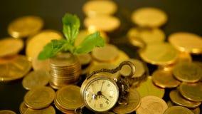 Zeit für Erfolg des Finanzgeschäfts Investition, Geschäftsfinanzideenkonzept Management-Leistungsfähigkeit, Zeit ist Geld stock video footage