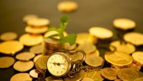 Zeit für Erfolg des Finanzgeschäfts Investition, Geschäftsfinanzideenkonzept Management-Leistungsfähigkeit, Zeit ist Geld stock footage