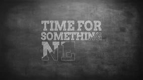 Zeit für etwas neu stock abbildung