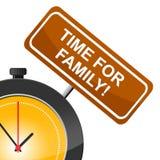 Zeit für Familie bedeutet Blutsverwandtes und Kinder Lizenzfreie Stockfotografie