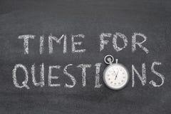 Zeit für Fragenuhr stockfoto