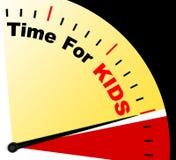 Zeit für Kiids-Mitteilung zeigt Freizeit oder Anfangsfamilie stock abbildung