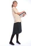 Zeit, für recht School-Kursteilnehmermädchen zu erlernen Stockfotografie