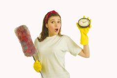 Zeit für Reinigung Lizenzfreies Stockfoto