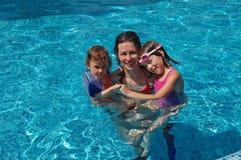 Zeit für swimmimg Stockbild