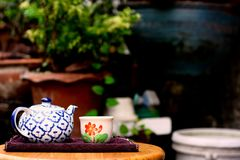 Zeit für Tee lizenzfreie stockfotos
