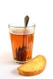 Zeit für Tee mit einem getrockneten Brot Lizenzfreies Stockbild
