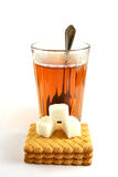 Zeit für Tee mit Zucker Stockfoto