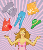 Zeit für Verkäufe (Rabatte) Lizenzfreie Stockfotos