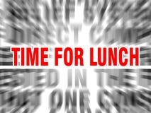 Zeit f?r das Mittagessen lizenzfreie abbildung