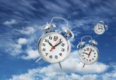 Zeit fliegt Konzept Stockfoto