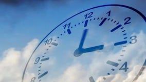 Zeit fliegt (Uhr im Himmel) lizenzfreie abbildung