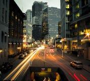 Zeit fliegt in Vancouver Stockbild