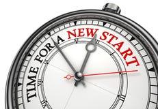 Zeit für einen neuen Anfang Stockfoto