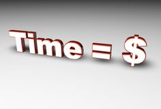 Zeit = Geld Stockfotografie