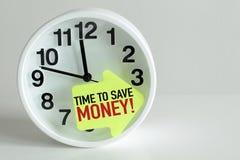 Zeit, Geld zu sparen Lizenzfreie Stockbilder