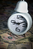 Zeit, Geld zu verdienen Stockfotografie