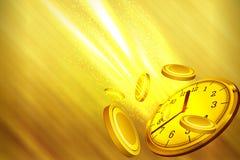 Zeit, Illustration oder Zeit ist Geld Konzept zu gewinnen Lizenzfreies Stockfoto