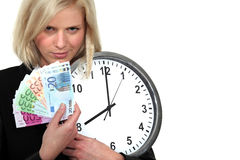 Zeit ist Geld. Stockfoto