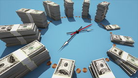 Zeit ist Geld lizenzfreie abbildung