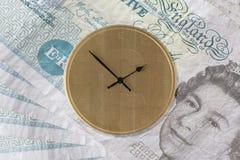 Zeit ist Geld - BRITISCHE Version Stockbild