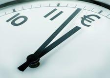 Zeit ist Geld (Euro) Lizenzfreie Stockfotos