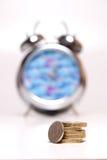 Zeit ist Geld - Farbe stockfotografie