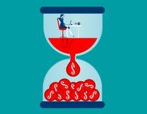 Zeit ist Geld Geschäftsfrau Working Stockbilder