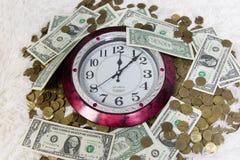 Zeit ist Geld Gesetz des Geschäfts Stockbilder
