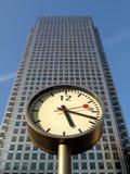 Zeit ist Geld Londons in den Docklands Lizenzfreies Stockbild
