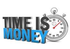 Zeit ist Geld Stoppuhr Lizenzfreie Stockbilder
