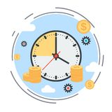 Zeit ist Geld Zeitmanagement, Unternehmensplanungskonzept Lizenzfreie Stockfotos