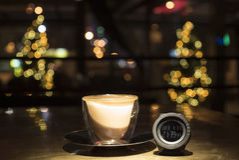 Zeit, Kaffee zu trinken lizenzfreies stockbild