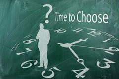 Zeit zu wählen lizenzfreies stockbild