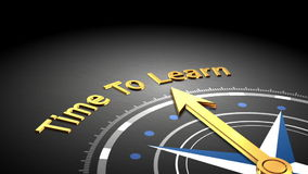 Zeit, Konzept zu erlernen lizenzfreie abbildung