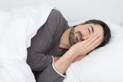 Zeit- Krankheit des Schlafes Stockfotografie
